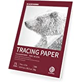 "Bachmore 9""x12"" Artist's Tracing Paper Pad, 75 Sheets – Translucent Tracing Paper for Pencil, Marker and Ink - Trace Images,"