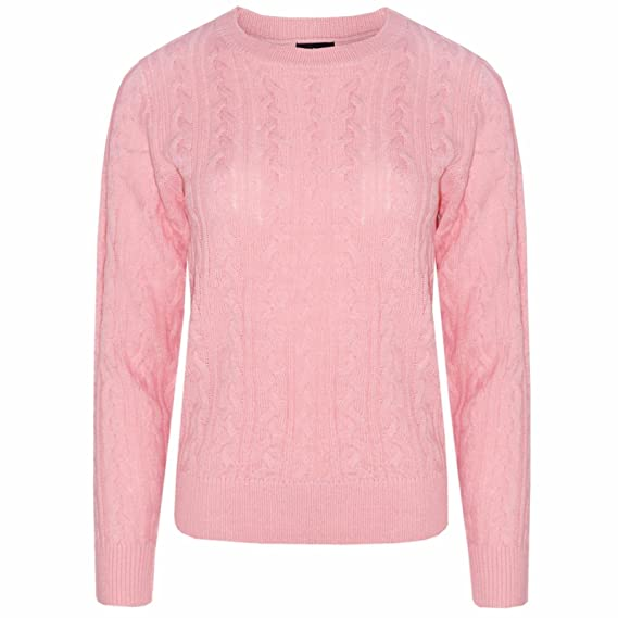 22018972a681ab Bling Womens Winter Cable Knit Long Sleeve Knitted 6 Color Jumper Sweater   Amazon.co.uk  Clothing