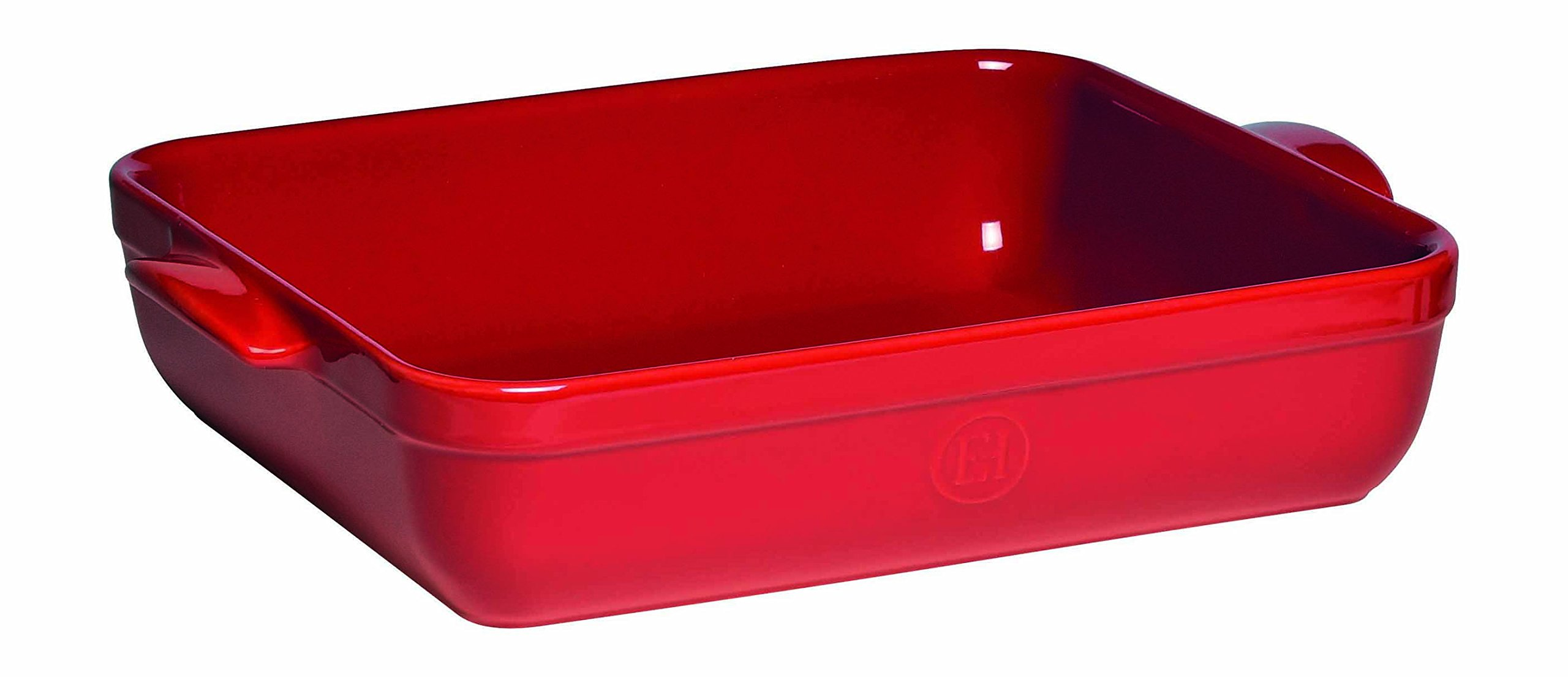 Emile Henry Made In France Lasagna/Roasting Dish 13.75'' x 10''x 2.75'' Burgundy Red