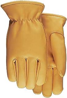 Bob Dale 20-1-1592-12 Premium Grain Leather Cowhide Driver Glove with Split Back Size 12 Tan