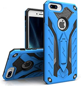 ZIZO Static Series for iPhone 8 Plus Case Military Grade Drop Tested with Kickstand iPhone 7 Plus iPhone 6s Plus Case Blue Black