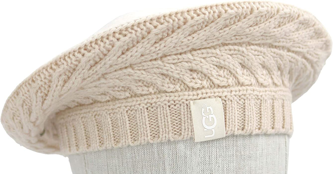 UGG Womens Cable Beret in Beige at Amazon Women s Clothing store  e83fc822c04