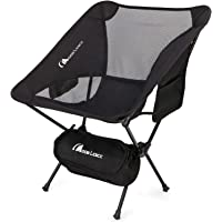 $31 » MOON LENCE Outdoor Ultralight Portable Folding Chairs with Carry Bag Heavy Duty 242lbs…