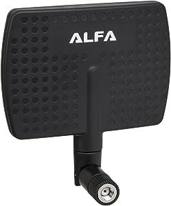 Alfa 2.4HGz 7dBi RP-SMA Panel Screw-On Swivel Antenna Netwrok Adaptors - Also Works for 3DR Solo Drone, DJI Phantom 3 Drone, Yuneec Typhoon H ST16 Controller, adds Range