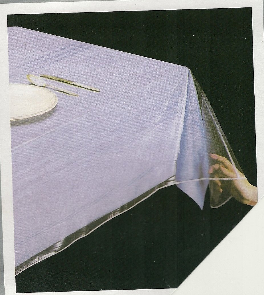 Clear Heavy Duty Vinyl Tablecloth Protector, Oblong 70'' X 126'' Deluxe Collection