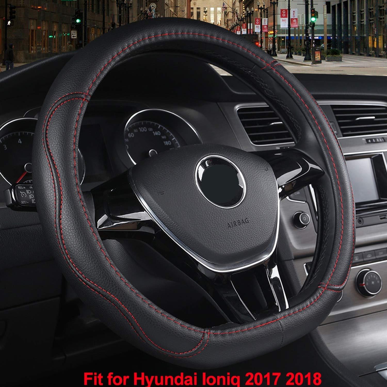 Hilo Negro Ablaze Jin Funda para Volante de Coche en Forma de D para Hyundai I-Oniq 2017 2018 Resistente al Desgaste Piel sint/ética Coche Estilo Protector de autom/óvil