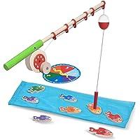 Melissa & Doug Catch & Count Wooden Fishing Game, Developmental Toy, 2 Magnetic Rods, 18.415 cm H x 45.72 cm W x 6.35 cm L