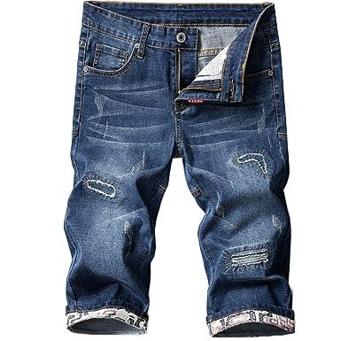 Amazon.com: Shunht - Pantalones vaqueros para hombre, con ...