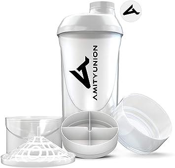 Shaker Deluxe - Proteína Shaker a prueba de fugas - BPA libre ...