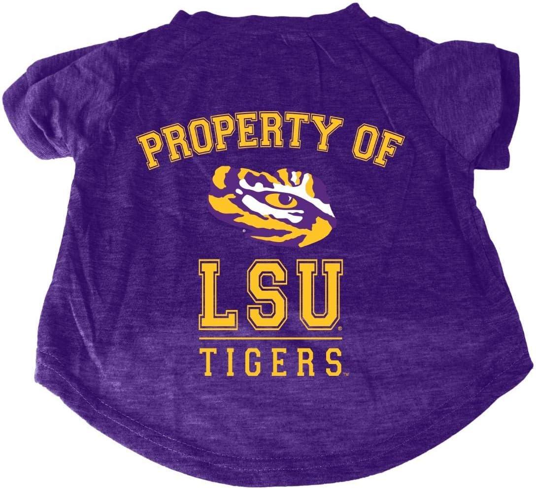 LSU Tigers NCAA Dog Pet Tee T-Shirt