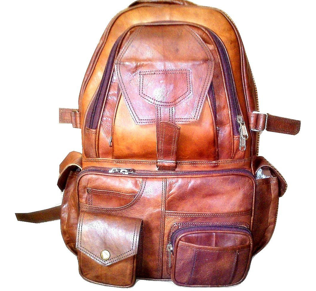 Vivido New Distressed Vintage Leather Backpack / Travel / College Smart Rucksack Bag by Vivido