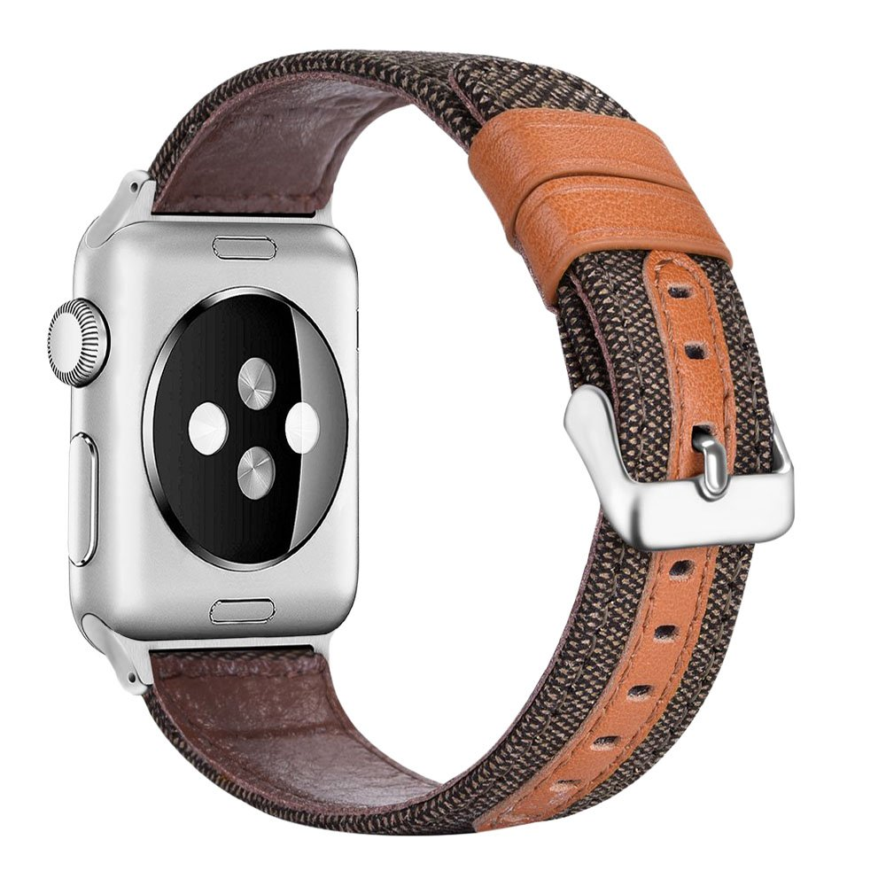 penen Compatible Apple Watch Band 38mm 42mm Leather iWatch Strap Replacement Band Leather Watch Sport Loop Band Replacement with Stainless Metal Buckle for Apple Watch Nike+ Series 3,2,1 by penen (Image #1)