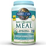 Garden of Life Meal Replacement - Organic Raw Plant Based Protein Powder, Lightly Sweet, Vegan, Gluten-Free, 36.6oz (2lb 5oz/1,038g) Powder