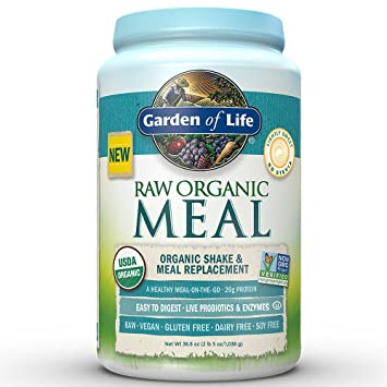 Garden Of Life Meal Replacement   Organic Raw Plant Based Protein Powder,  Lightly Sweet,