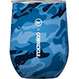 Corkcicle 12 oz Triple-Insulated Stemless (Perfect for Wine) (Blue/Camo)