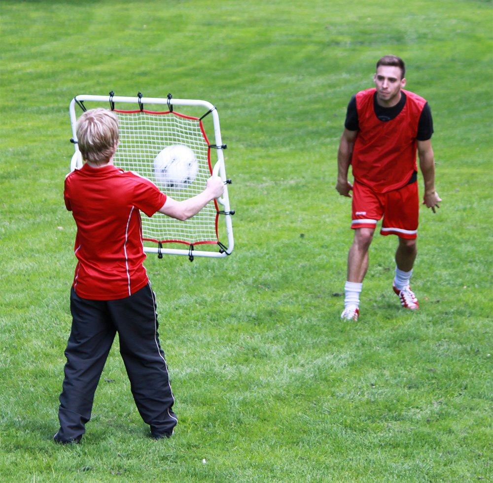 Boje Sport Red de fútbol elástica para entrenamiento, rebote 80 cm x 80 cm: Amazon.es: Deportes y aire libre
