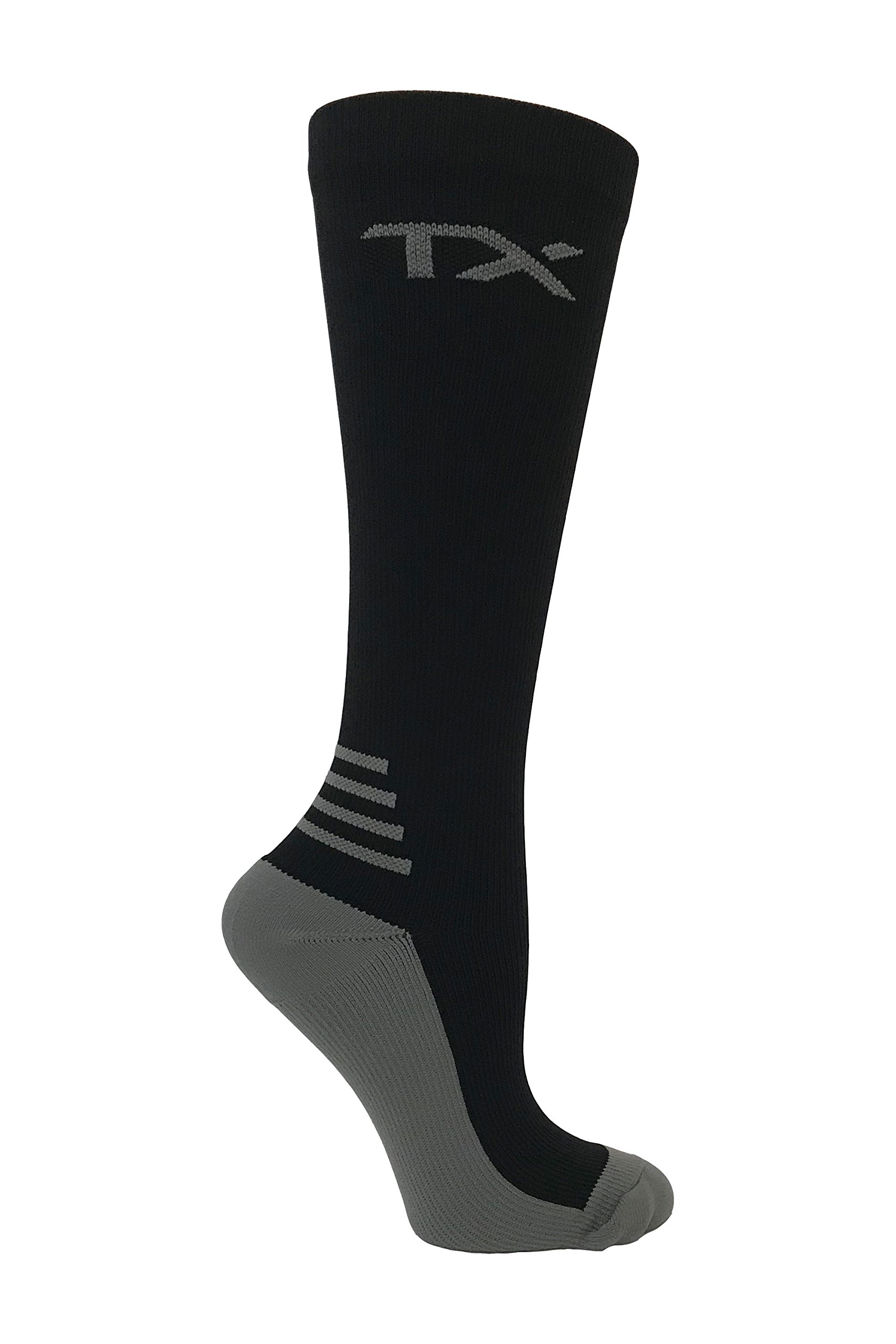 TX Unisex Athletic Compression Socks 20-30 mmHg Graduated Support – Moisture Wicking for Cool Comfort – Cushioned Soles – For Runners, Nurses, Diabetics & Improves Circulation