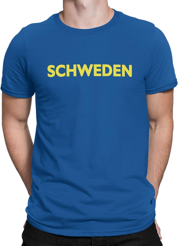 vanVerden Camiseta Hombre Camiseta Fútbol Suecia Camiseta Country Camiseta Suecia, Color:Azul, Tamaño:XL: Amazon.es: Ropa y accesorios