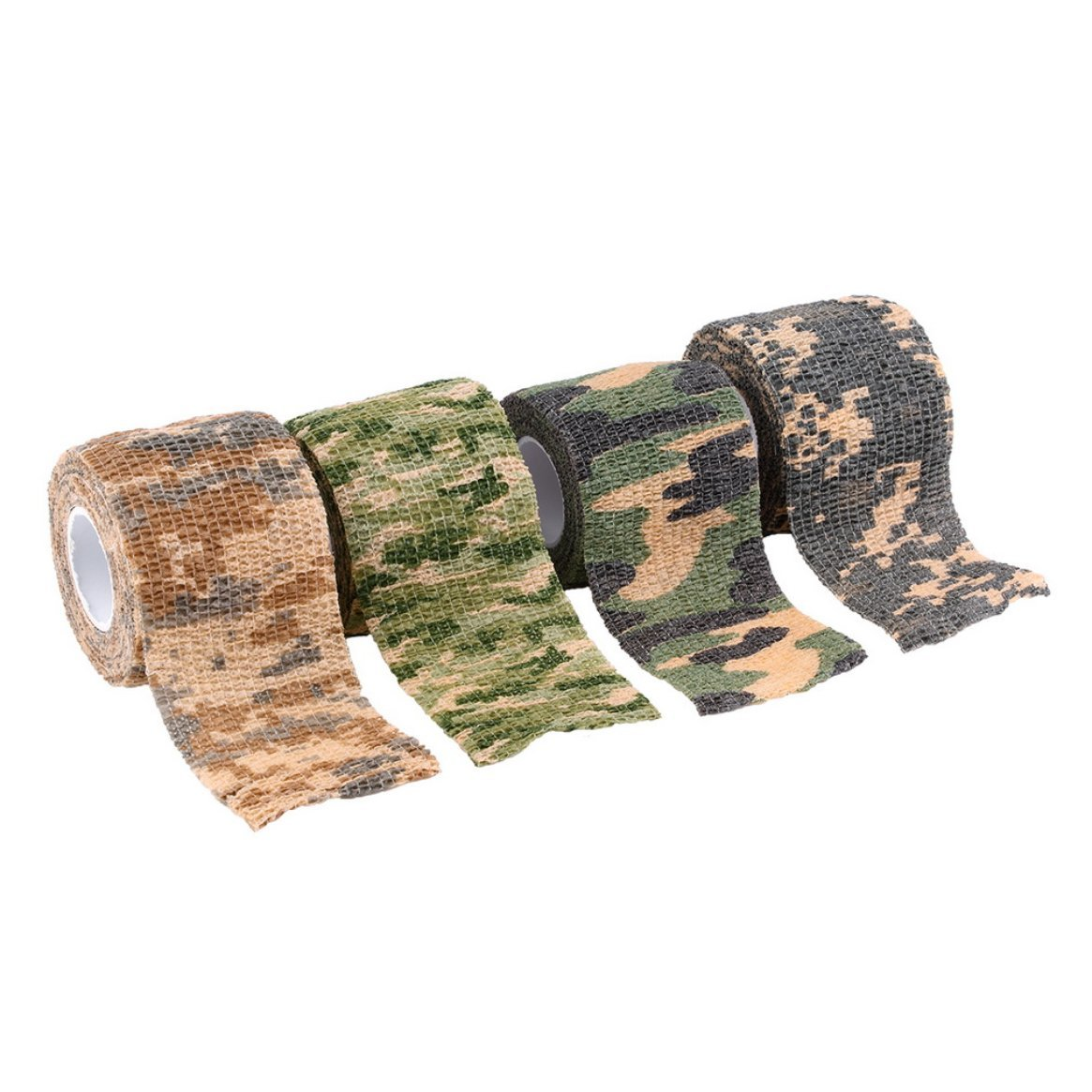 Delicacydex Camouflage /élastique Chasse ext/érieure /étanche Camping Stealth Camo Wrap Tape Militaire Airsoft Paintball Stretch Bandage Camouflage du d/ésert