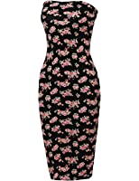Made by Emma Women's Sexy Comfortable Tube Top Body-Con Midi Dress In Various Colors