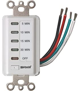 Woods 59007WD In Wall 30 Minute Decora Digital Countdown Timer