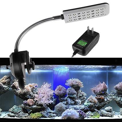 WoLoYo LED Acuario Peces Tanque luz, Sumergible Acuario Clip lámpara Adecuado para Agua Salada y