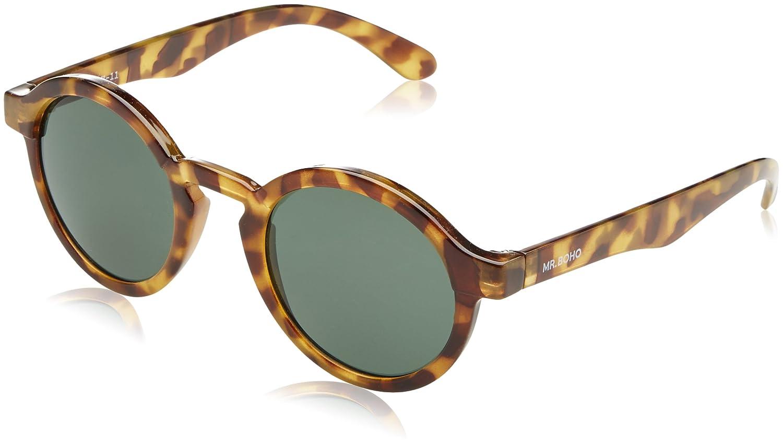 MR Dalston High-Contrast Tortoise Gafas de sol con lente clásica, multicolor, unisex, talla única