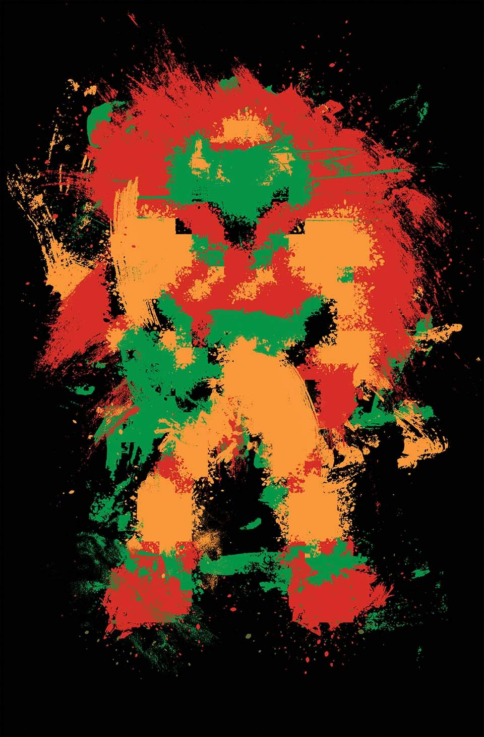 Video Game Art Abstract