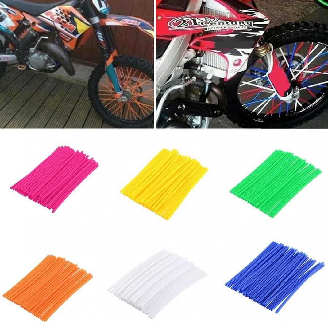 Nuohuilekeji 36Pcs//Pack Motorcycle Bike Wheel Spoke Wraps Rims Skin Cover Protector Decor Tool