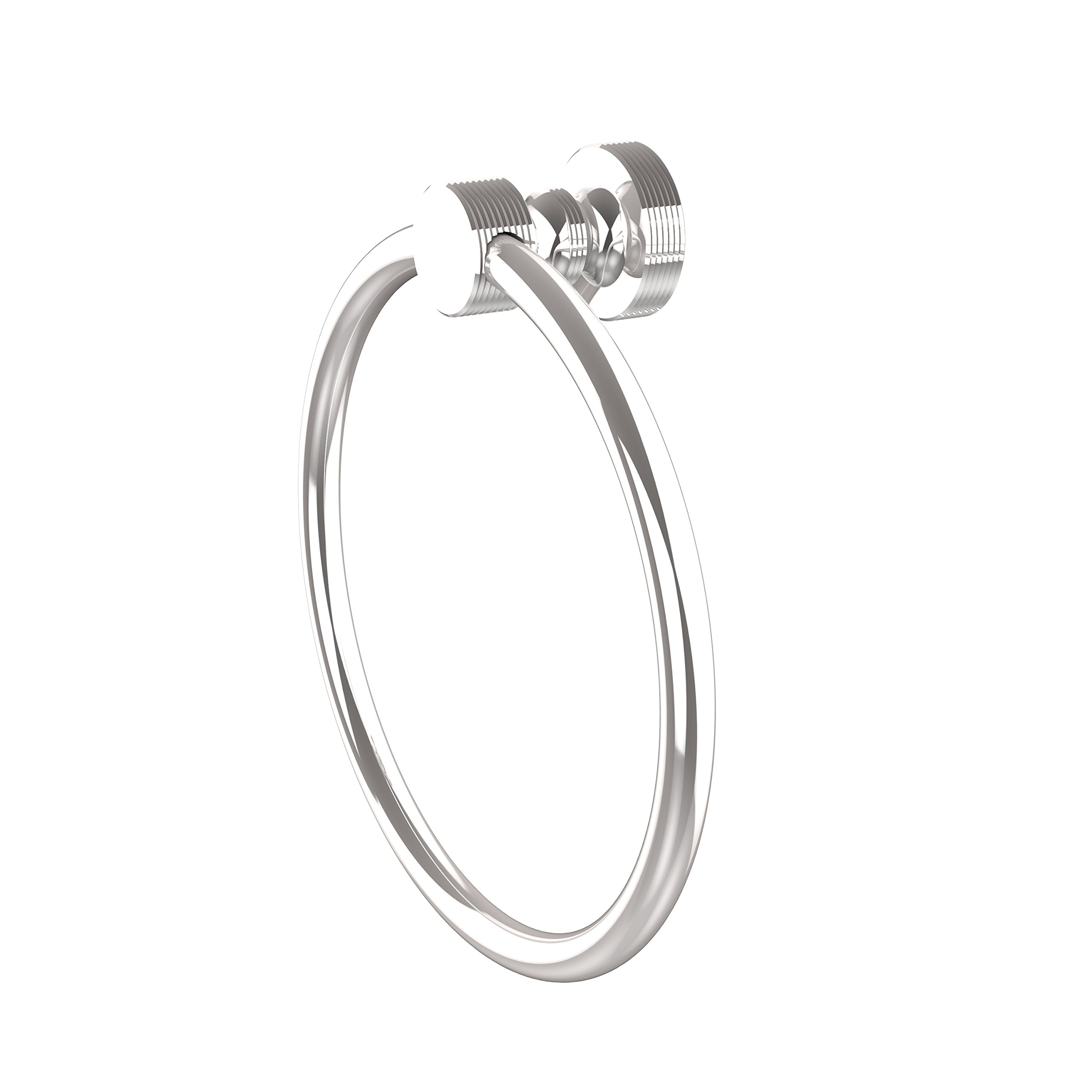 Allied Brass FT-16-PC Foxtrot Collection Towel Ring, Polished Chrome
