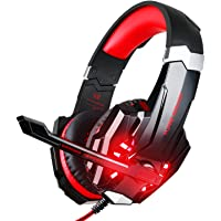BlueFire 3.5mm Gaming Headset for Playstation 4 PS4 Xbox One Games Tablet Laptop, Over Ear Headphone with Microphone LED…