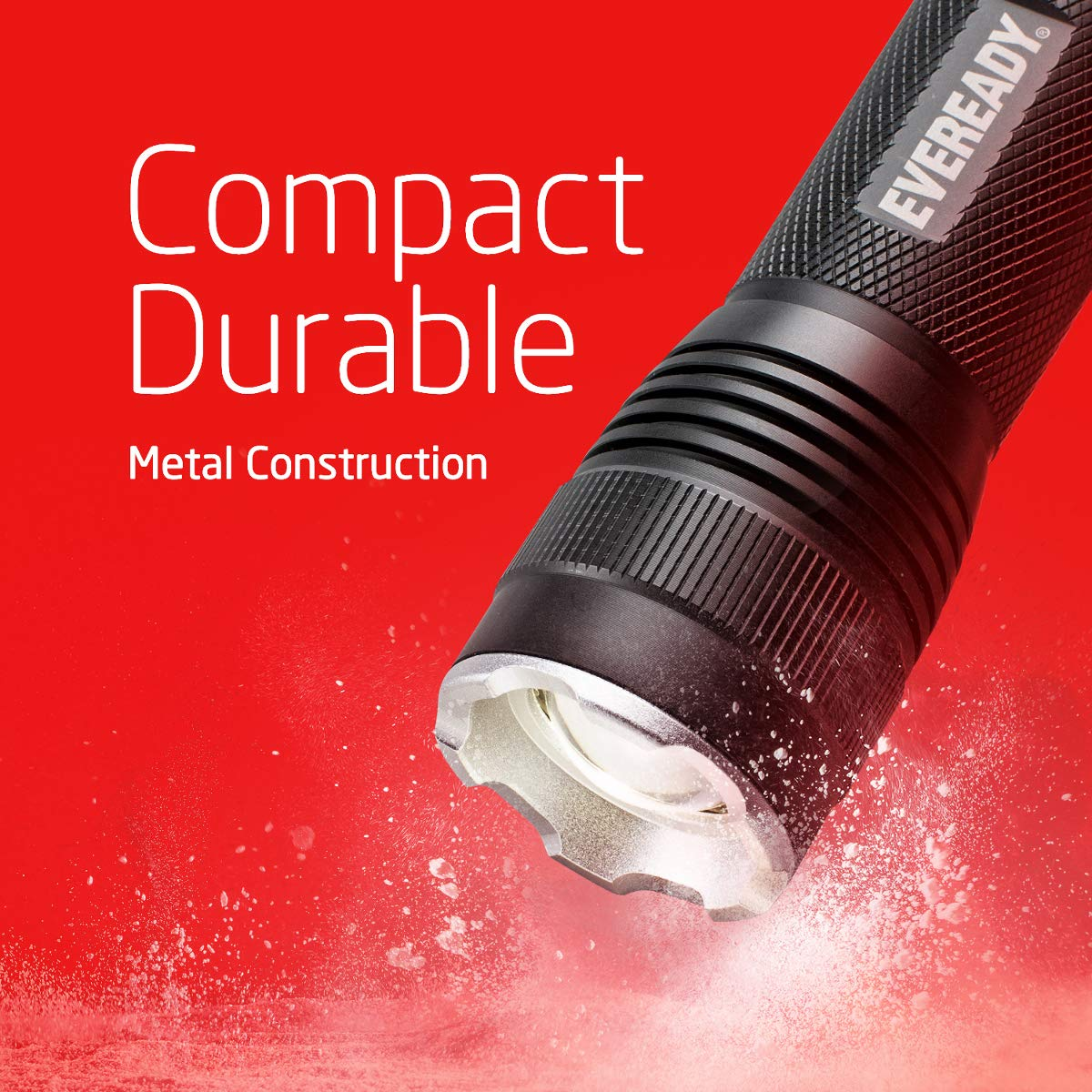 Zoomable IPX4 Water Resistant Eveready LED Tactical Flashlight ...