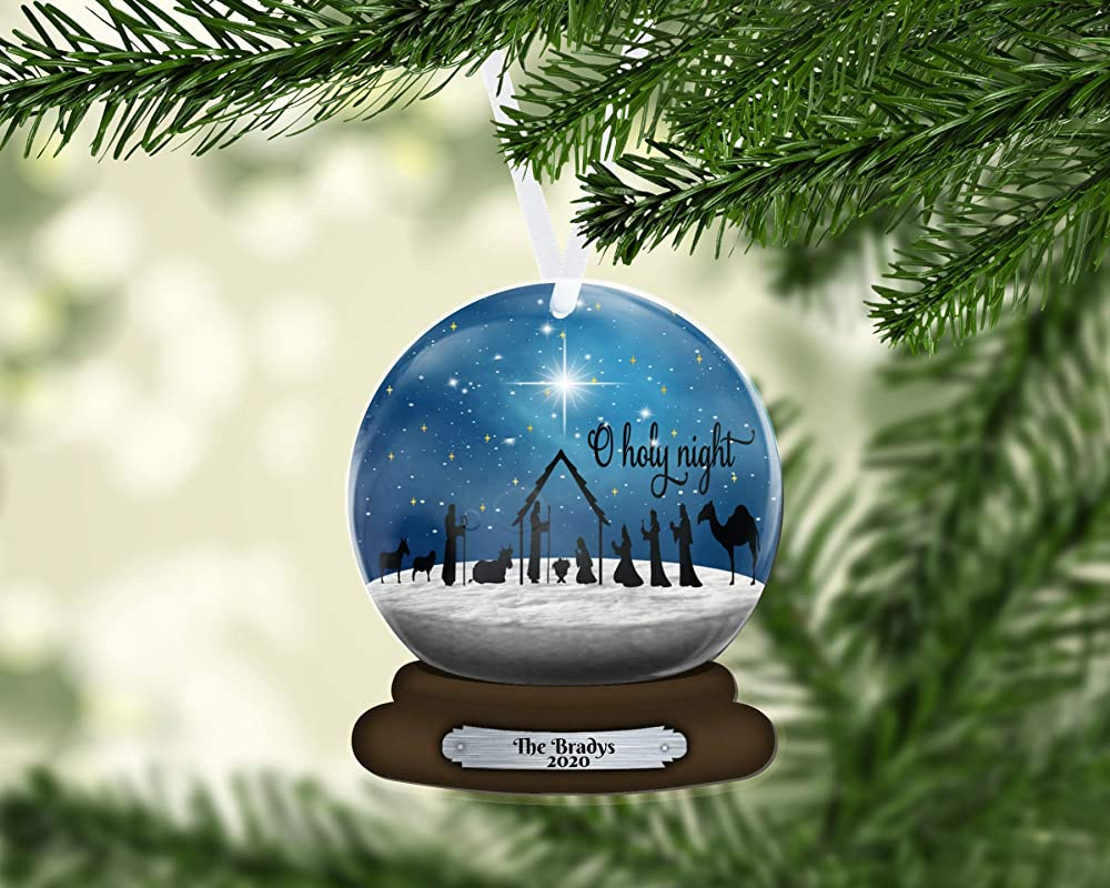 2020 Christmas Holiday Snowglobe Ornament Amazon.com: Snow Globe Nativity Christmas Ornament, Snowglobe