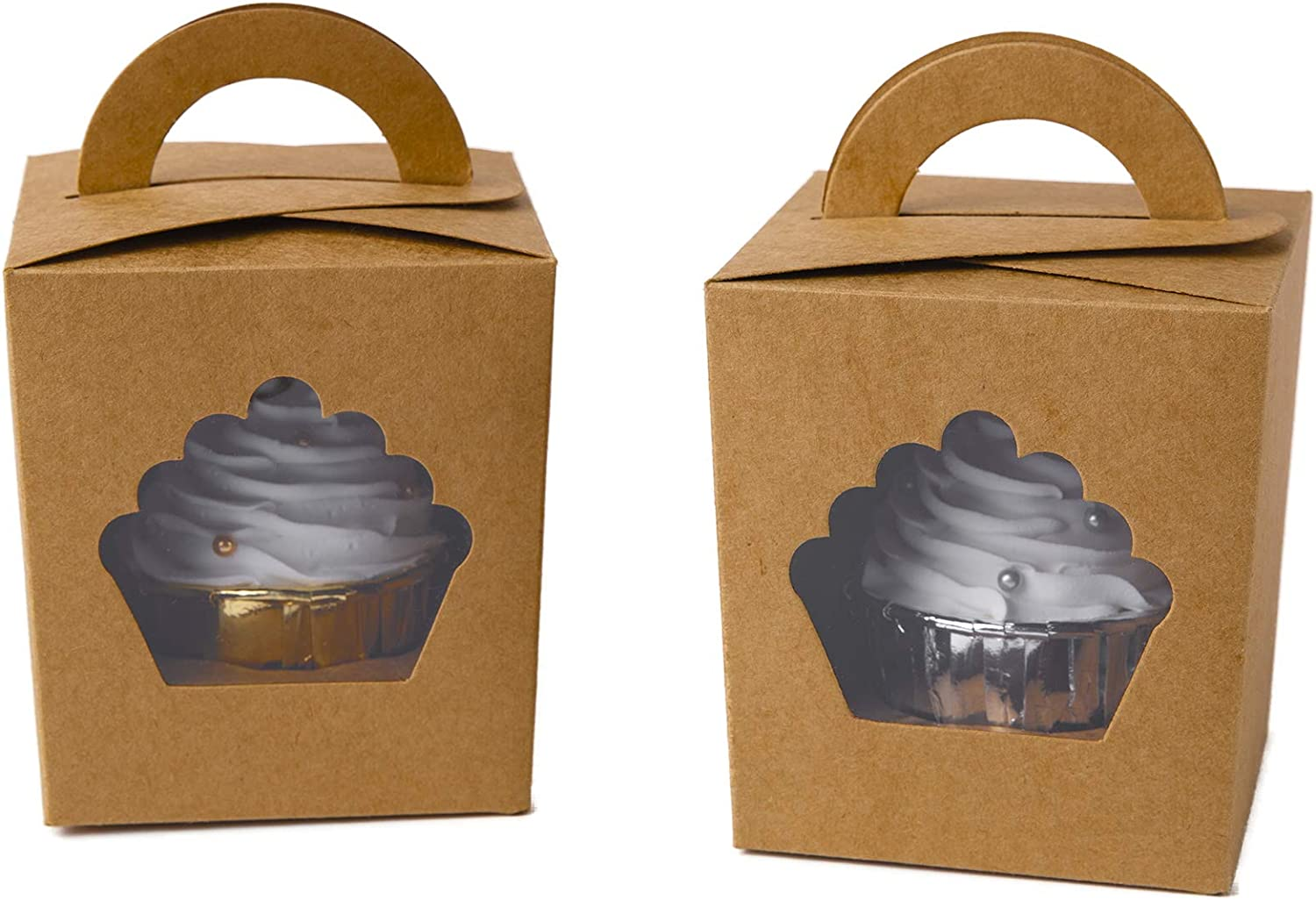 50PCS Mooncake Cupcake Gift Box Container Wedding Party Holder Liner Lid Baking