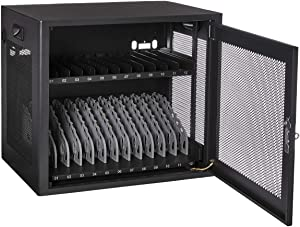 V7 Charging Station for 12 Mobile Computers - Secure, Store and Charge Chromebooks, Notebooks and Tablets - NEMA US Plug - CHGSTA12-1N