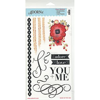 Adorn it adore you me stickers clear
