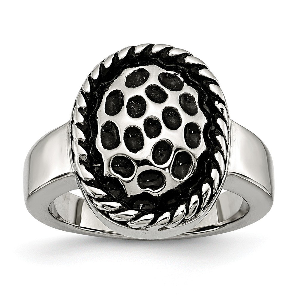 Stainless Steel Fashion Ring Polished Antiqued Antiqued Ring