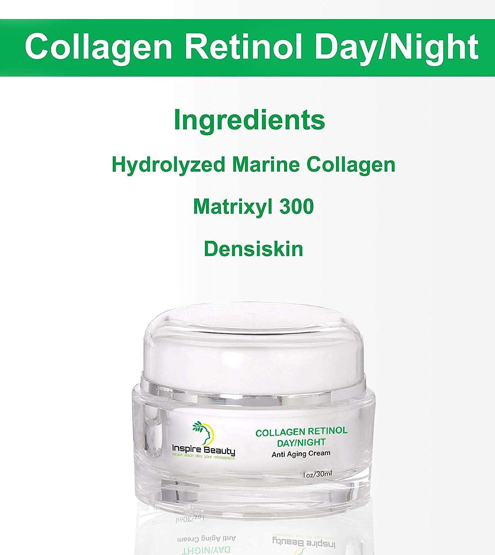 La crema antienvejecedora del día/de la noche del retinol del colágeno - 30ml - reduce las arrugas, rejuvenecendo y reafirmando la crema anti del ...