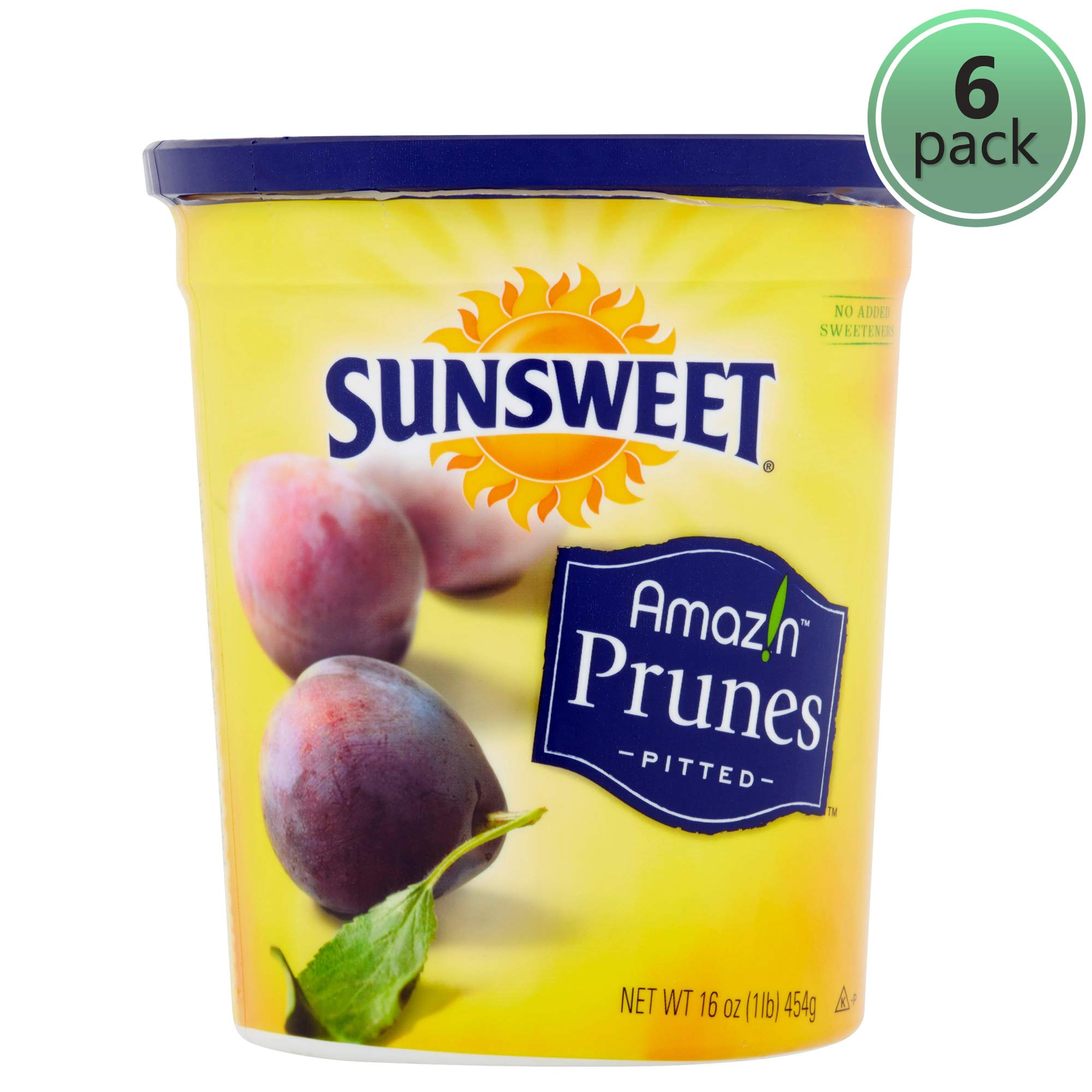 SUNSWEET Amazin Pitted Prunes, 16 oz - Pack of 6 by Sunsweet