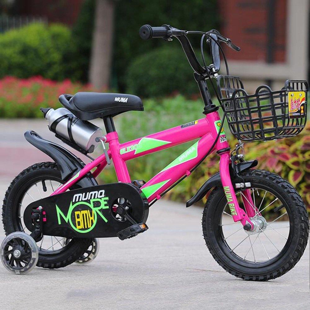 HAIZHEN マウンテンバイク キッズバイク12インチ、14インチ、16インチ、18インチ、ボーイバイク&ガールズバイク、子供向けギフト 新生児 B07C42X8QX 12 inch|ピンク ぴんく ピンク ぴんく 12 inch
