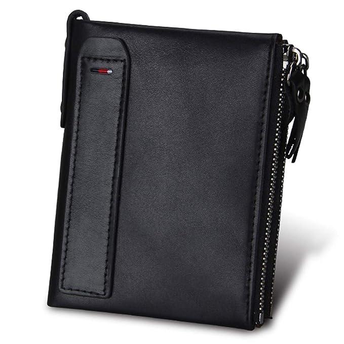 b47ba8bd6461 Zesoma Genuine Leather Wallet Male Coin Purse Men Wallets Credit Business  Card Holders Double Zipper,