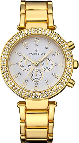 Timothy Stone Collection Desire Stainless - Reloj de Cuarzo para Mujer, Color Oro: Amazon.es: Relojes