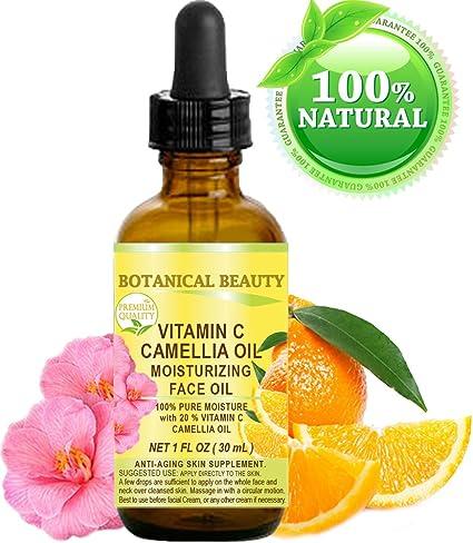 VITAMINA C Aceite de CAMELIA. Aceite facial humectante. Anti-envejecimiento, regenerador y