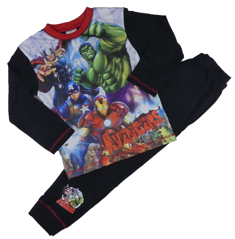 Boys Avengers Marvel Pyjamas Set Thor Hulk Iron Man Capt America 4-5Y to 9-10Y Full Picture)