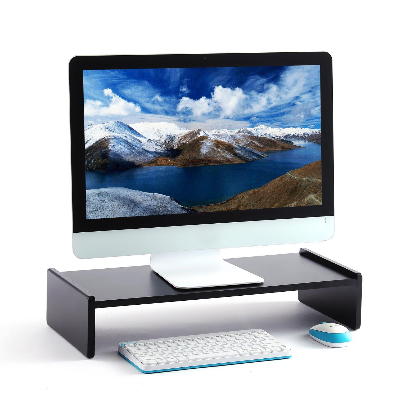 RFIVER DO1003 Schreibtisch-Organizer-Set, Druckerst?nder, Computertisch-Monitor-St?nder, 2 St¨ ¹ ck, Schwarz
