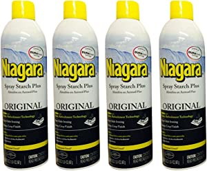Niagara Spray Starch Crisp Finish, Sharp Look Without Excess Stiffness, 20 ounces(4 Pack)
