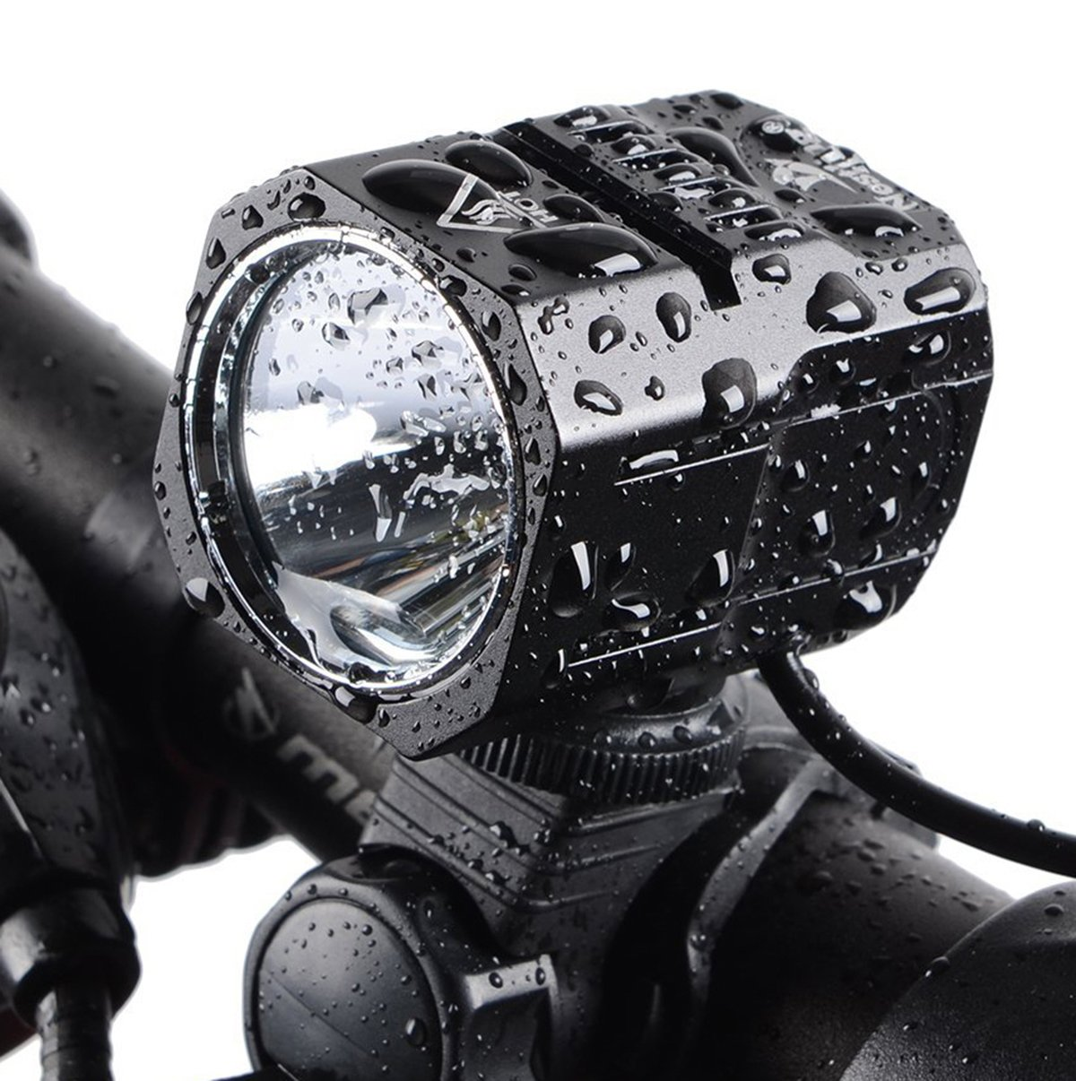 Nestling USB Rechargeable LED Bike Light Set, 1200 Lumen Bicycle Headlight Cree XM-L2 LED Waterproof Bike Front Light Handheld Flashlight with 4400mAh Battery