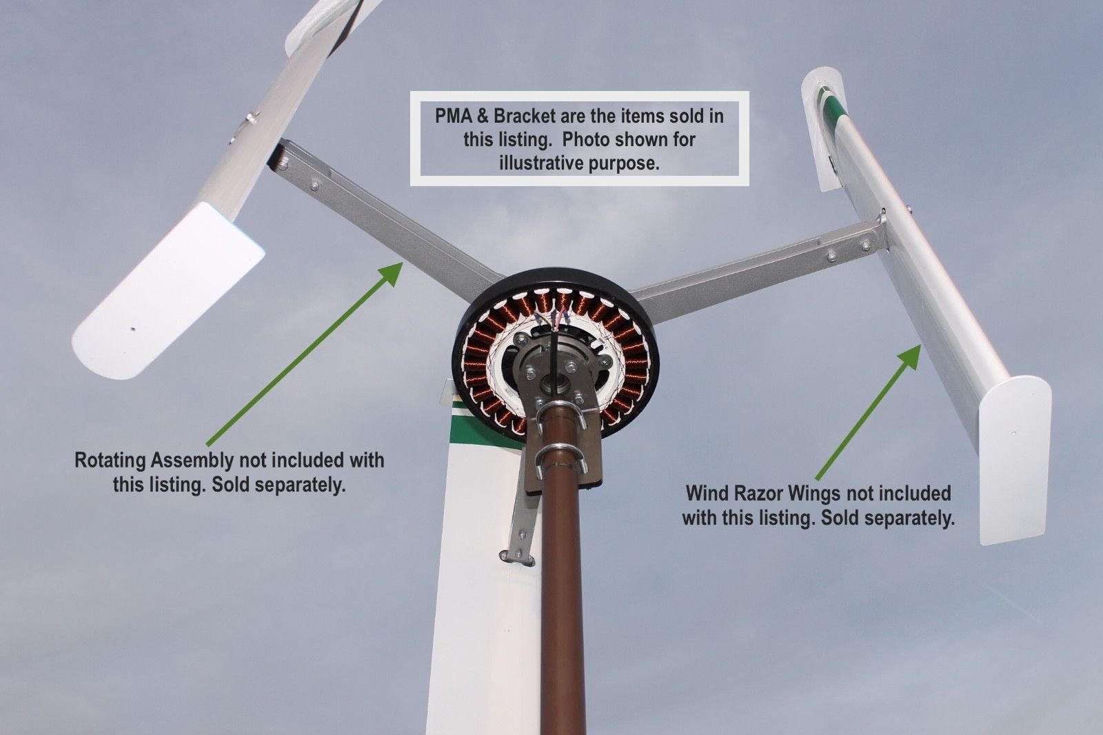FP-640 PMA - Permanent Magnet Alternator Wind Turbine Generator by WindGenKits (Image #6)