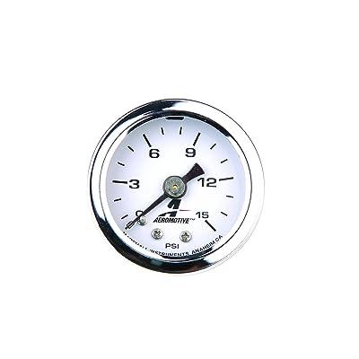 Aeromotive 15632 Fuel Pressure Gauge - 0 to 15 psi: Automotive