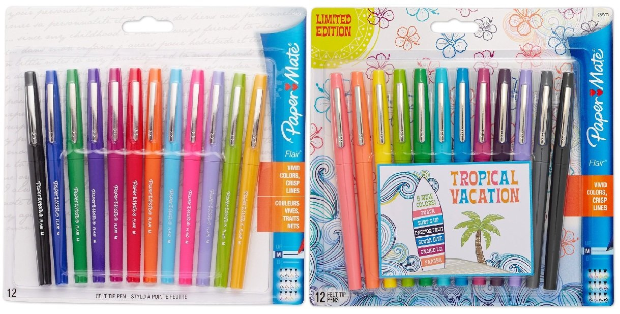 Paper Mate Flair Felt Tip Pens, Medium Point, Limited Edition Candy Pop Pack,  24 Count – $15.28 (reg. $24.99), Best price